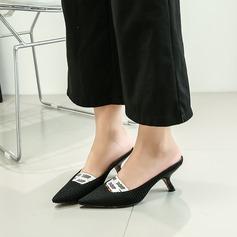 Femmes Tissu Talon stiletto Escarpins Bout fermé avec Élastique chaussures