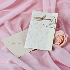 Heart Style Side Fold Invitation Cards (Set of 50)