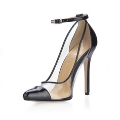 Kunstleren Stiletto Heel Pumps Closed Toe met Buckle schoenen