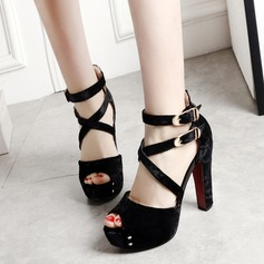 Women's Chunky Heel Sandals Pumps With Buckle shoes