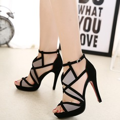 Women's Suede Stiletto Heel Sandals Pumps With Split Joint shoes