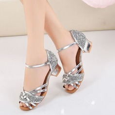 Women's Leatherette Sparkling Glitter Heels Latin Modern Dance Shoes