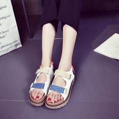 Kvinner Jean Flat Hæl Sandaler Flate sko med Velcro sko