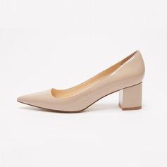 Kadın Rugan Kalın Topuk Pompalar ayakkabı