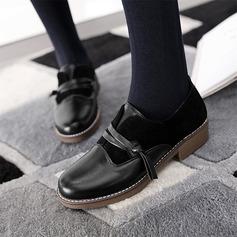 Kvinnor Konstläder Flat Heel Platta Skor / Fritidsskor Stängt Toe med Andra skor