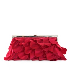 Gorgeous Silk With Ruffles Clutches