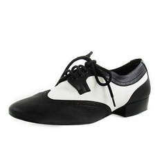 Men's Real Leather Flats Latin Ballroom Practice Dance Shoes