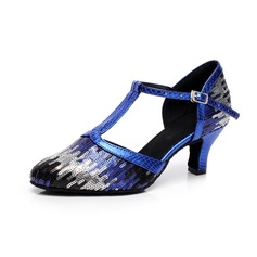 Women's Patent Leather Heels Modern With Sequin Dance Shoes