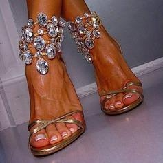 Femmes Talon stiletto Sandales avec Cristal chaussures