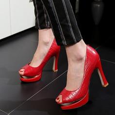 Women's PU Stiletto Heel Pumps Platform Peep Toe With Others shoes