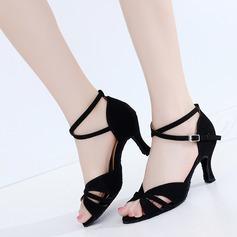 Women's Suede Heels Latin Dance Shoes