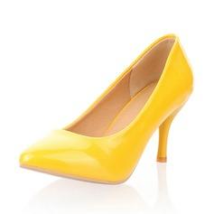 Kadın Suni deri İnce Topuk Pompalar Kapalı Toe ayakkabı