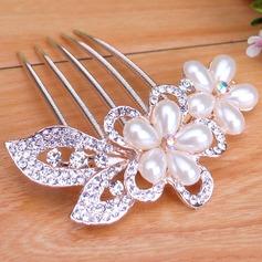 Glamourous Rhinestone/Alloy/Imitation Pearls Combs & Barrettes