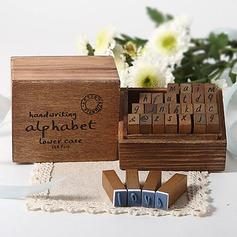 l'écriture manuscrite alphabet En bois Tampons