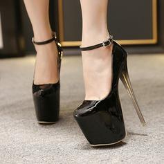 Femmes Talon stiletto Escarpins Plateforme Bout fermé avec Boucle chaussures