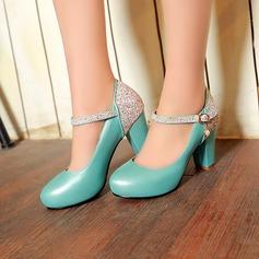 Donna Similpelle Tacco spesso Stiletto con Strass scarpe