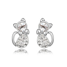 Alloy With Imitation Crystal Women's Fashion Earrings