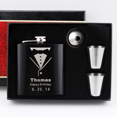 Personalized Groom Stainless Steel Flasks