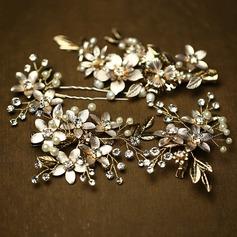Elegant Rhinestone/Imitation Pearls Hairpins/Combs & Barrettes (Set of 4)