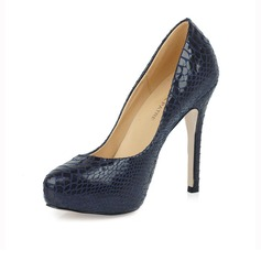 Courino Stiletto Scarpins Plataforma Stiletto com Animal Print
