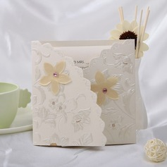 Style Florale Pli en 3 Invitation Cards (Lot de 10)
