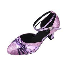 Donna Similpelle Tacchi Swing con Listino alla caviglia Scarpe da ballo