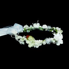 Lovely Artificial Silk Flower Girl's Headwear
