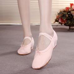 Femmes Enfants Toile Chaussures plates Ballet Chaussures de danse
