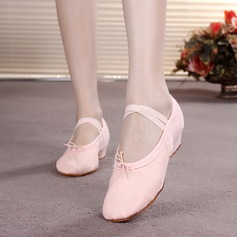 Women's Kids' Canvas Flats Ballet Dance Shoes