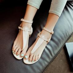 Women's Leatherette Flat Heel Flats Slingbacks With Buckle shoes
