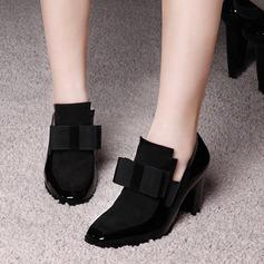 Femmes Vrai cuir Talon bottier Escarpins avec Bowknot chaussures