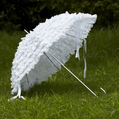 Blanco Encaje Parasoles de boda