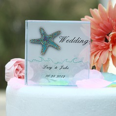 Personlig Sjøstjerner Crystal Kake Topper