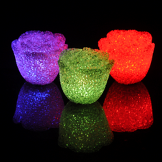 Color changing Flower Design LED Lights (set of 4)