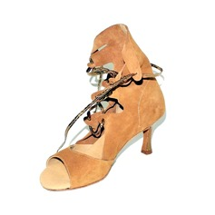 Women's Real Leather Heels Sandals Boots Latin Modern Ballroom Practice Dance Shoes