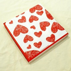 Heart Design Dinner Napkins (Set of 20)