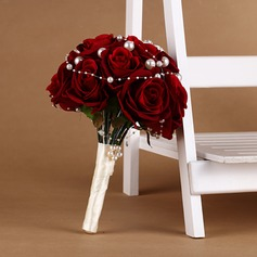 Doux Rond Satiné/Soie Bouquets de mariée