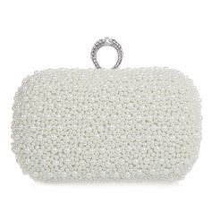 Elegant Pearl With Rhinestone Clutches