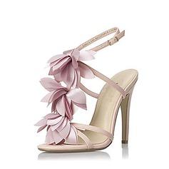 Similpelle Tacco a spillo Sandalo Con cinturino con Fiocco in raso scarpe