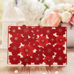Floral Style Top Fold Invitation Cards (Set of 50)