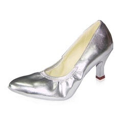 Real Leather Heels Pumps Modern Ballroom Dance Shoes