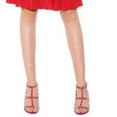 Dla kobiet Prawdziwa Skóra Obcas Stiletto Sandały Czólenka Otwarty Nosek Buta Bez Pięty Z Nit obuwie