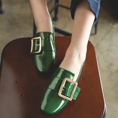 Femmes Cuir verni Talon plat Chaussures plates avec Boucle chaussures