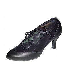 Women's Leatherette Nubuck Heels Pumps Modern Ballroom Dance Shoes