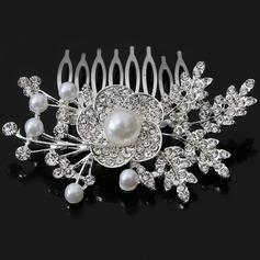 Kukka Muotoinen Tekojalokivi/Metalliseos/Valetaskua helmi Kammataan ja baretti