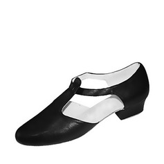 Women's Real Leather Heels Flats Jazz Dance Shoes