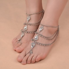 Rhinestone Alloy Foot Jewellery