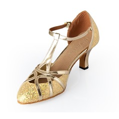 Women's Leatherette Heels Modern With Buckle Dance Shoes