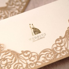 Groom Bride & Style Wrap i kieszeni Invitation Cards