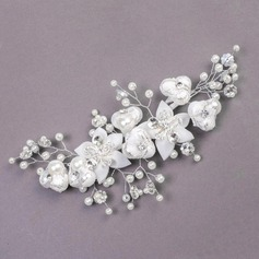 Gorgeous Rhinestone/Imitation Pearls/Artificial Silk Flowers & Feathers
